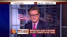 Here is Joe Scarborough, a guy who blithely plays the co-host of a morning show on a network that has a god-awful record for living in the sewers of racial politics. This is the network that gives the possibly-soon-to-be-removed-to-the weekend lineup Al Sharpton an entire show. But Joe is concerned about Rudy Giuliani - a guy whose political heroes include those vociferous racists Robert Kennedy and Ronald Reagan, with a considerable record of his own for saving black lives with a tough…