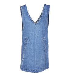 DENIM OVERALL DRESS Reference:  W08061016