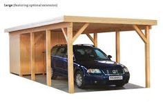 wooden carport with storage building Carport With Storage, Built In Storage, Wooden Carports, Garages, Entryway Bench, Bunk Beds, Gallery, Building, Image