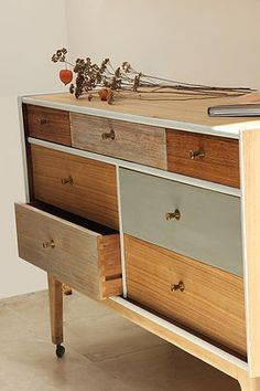 bespoke upcycled mid century retro furniture sideboard writing bureau chair bookcase dressing drawers cambridge UK