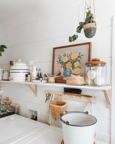 Our Corner Cottage (mostly complete) Laundry Room — Emily Netz Budget Home Decorating, Home Improvement Loans, Online Home Decor Stores, Cheap Home Decor, Entryway Decor, A Table, Home Remodeling, Living Room Decor, Living Spaces