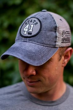 12ba236cc8f State 41 Trucker Hat in Vintage Black Grey from The Montana Way Vintage  Black