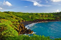 Honokalani Black Sand Beach, Maui | My heart too up permanent residence in Hawaii back in 1999...oh how I love that place!