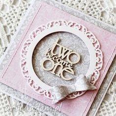 kartka ślubna z kokardą - kartka, ślubna, gratulacje, kokarda, twobecomeone