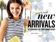 June is here with new arrivals. Get gorgeous for your summer vacay! Shop Now at Stella & Dot!