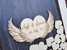 Rustic Wedding Guest Book Guest Book Alternative Wood | Etsy