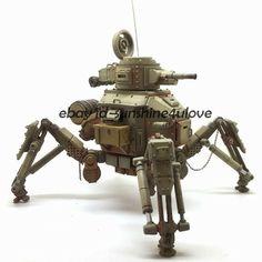 1:35 Scale Original Unpainted Combat Robot Garage Kit Resin Figure Model Statue #Unbranded Combat Robot, Tank Armor, Garage Kits, Figure Model, Plastic Models, Cannon, Military Vehicles, Resin, War