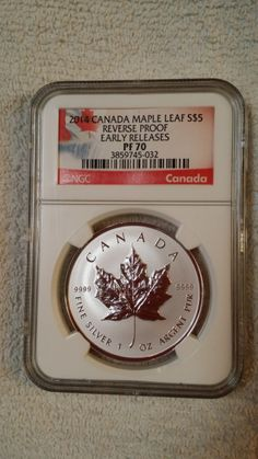 2014 Canadian Silver Maple Leaf Reverse Proof. Beautiful coin, new look to an old favorite.
