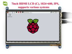 Discount! US $56.57  7inch HDMI LCD Screen Rev2.1 Display 1024*600 Capacitive Touch Screen for Raspberry Pi BB Black and Banana Pi/Pro  #inch #HDMI #Screen #Display #Capacitive #Touch #Raspberry #Black #Banana #PiPro  #OnlineShop