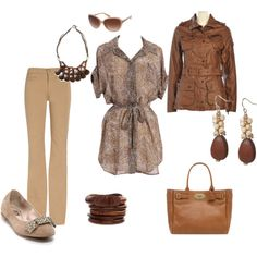 Great beige set for business casual.