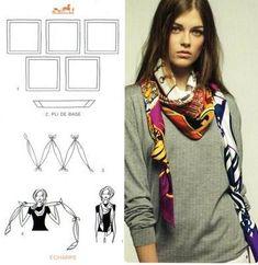 Risultati immagini per hermes foulard come indossare Nodi Sciarpa, Sciarpe  Di Seta, Sciarpe Hermes 659a21e4461