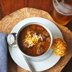 Texas Chili - no beans, no tomatoes, no ground beef, only big chunks of steak & chili spices.