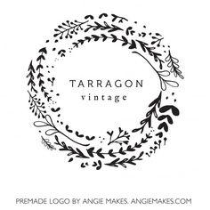 Laurel Leaf Logo Design. Lovely Premade Logo Design by Angie Makes | angiemakes.com