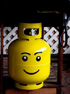 Someday we're gonna do this to our propane tank... when we get one.  Google Image Result for http://roadkillrescue.net/wp-content/uploads/2012/04/LEGO-propane-tank.png