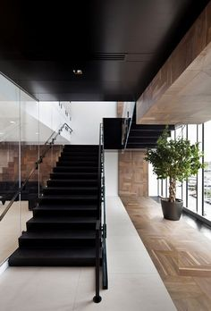 Offices Broccolini Construction, Kirkland, 2014 - Rubin & Rotman Architects #staircases