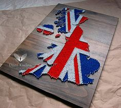 The Great Britain| string art pattern  #stringart #artwork