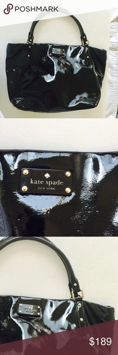 Kate Spade bag Kate Spade black patent leather great condition. kate spade Bags Shoulder Bags