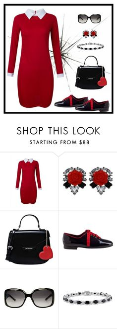 """""""Untitled #903"""" by gallant81 ❤ liked on Polyvore featuring Darya London, Love Moschino, Jon Josef, Gucci and Miadora"""