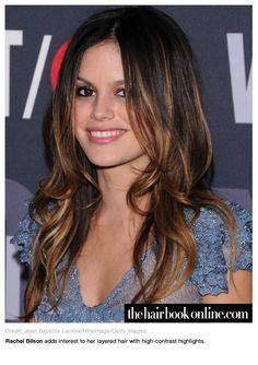 Rachel Bilson - highlighted tips, layered wavey hair