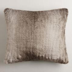 One of my favorite discoveries at WorldMarket.com: Gray Faux Fur Throw Pillow