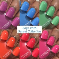 @zoyanailpolish 2016 Sunset Collection