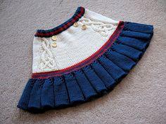 Вязание юбки для девочки спицами в морском стиле со схемой и описанием. Как связать юбку для девочки спицами. Вязаная юбка для девочки спицами для отпуска, в детский сад, для городских прогулок.