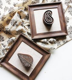 Beautifully Framed Wooden Blocks The Indian Weave/ Collectivitea