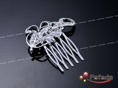2 PCS Wedding Bridal Prom Parties Handmade Rhinestone Hair Comb | eBay - Bridesmainds