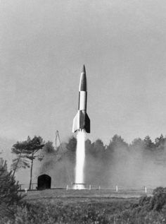 On This Day - September 8th 1944, The first V-2 rocket was launched at London from the Hague at 6:43 p.m which landed at Chiswick, killing 63-year-old Mrs Ada Harrison, 3-year-old Rosemary Clarke, and Sapper Bernard Browning on leave from the Royal Engineers.