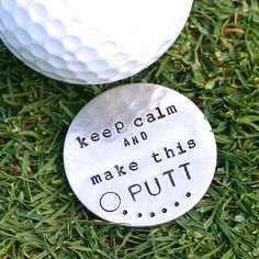 Personalized golf ball marker. Custom stamped for by JustJaynes, $19.00