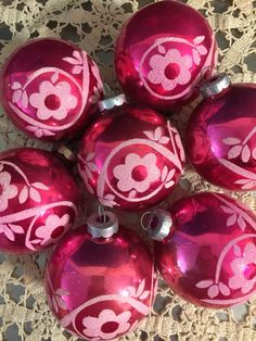 Vintage Glass Christmas Ornaments  Matched by PineStreetPickers