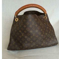 Louis Vuitton Artsy MM monogram bag (Dark Brown)