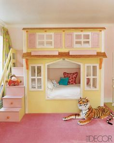 Cute bunk bed house
