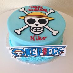 One Piece Birthday cake. #stuffedcakes #customcakes #getstuffed #handpaintedcake #onepiece