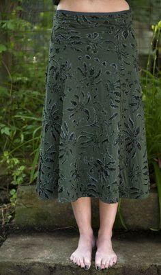 Beaded Flare Skirt / Alabama Chanin