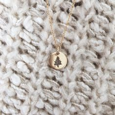 Evergreen necklace. Made by Mary!