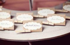 Papelaria para identificar doces nas mesas