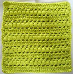 Puff Stitch Crochet Dishcloth By Kathleen Stuart - Free Crochet Pattern With Website Registration - See http://www.ravelry.com/patterns/library/272-puff-stitch-crochet-dishcloth For Additional Projects - (bestfreecrochet)