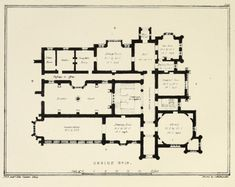 Floor plan for a country estate, England