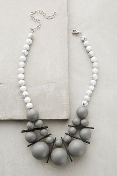 $68 Acrylic, wood, base metal - Museu Bib Necklace - anthropologie.com