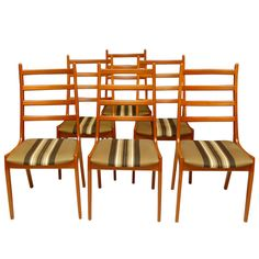 Set 6 Ladderback Dining Chairs