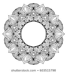 Find Mandalas Coloring Book Decorative Round Ornaments stock images in HD and millions of other royalty-free stock photos, illustrations and vectors in the Shutterstock collection. Mandala Sketch, Mandala Tattoo Design, Mandala Drawing, Mandala Art Lesson, Mandala Painting, Adult Coloring Pages, Coloring Books, Zentangle, Unusual Flowers