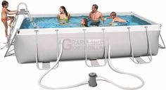BESTWAY 56441 PISCINA CON POWER STEEL FRAME CM.404x201x100h. http://www.decariashop.it/piscine-con-telaio/20787-bestway-56441-piscina-con-power-steel-frame-cm404x201x100h.html