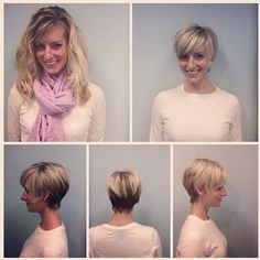 Everyday Hairstyles for Short Fine Hair: Pixie Haircut Before and After kurze haare vorher nachher 18 Beautiful Short Pixie Hairstyles: Short Hair Trends 2020 - Styles Weekly Thin Hair Cuts, Haircut For Thick Hair, Short Hair Cuts For Women, Fade Haircut, Short Hairstyles 2015, Everyday Hairstyles, Pixie Hairstyles, Medium Hairstyles, Wedding Hairstyles