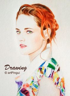 Drawing of #kristenstewart