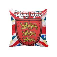 England Union Jack throw pillow vectorwebstore.com