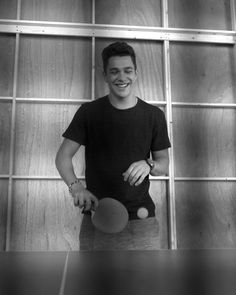 Austin Mahone playing table tennis