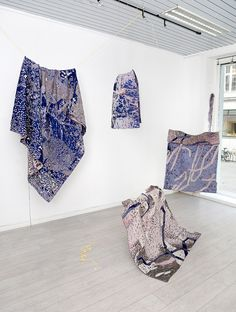 My full installation of digital jacquard tapestries shown at Low Standards, Oslo. Oslo, Boho Shorts, Ballet Skirt, Tapestry, Hands, Digital, Wood, Fashion, Hanging Tapestry