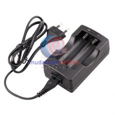 High quality 2LED Travel Charger For Lithium Li-Ion 18650 Battery EU