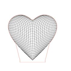 Big heart illusion lamp plan vector file for CNC - 3d Illusion Art, Laser Cut Lamps, Elements And Principles, Led Panel Light, Craft Club, Butterfly Chair, Mandala Design, Geometric Art, Vector File